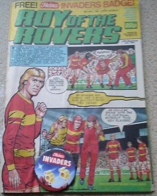 Roy of the Rovers 12th May 1984 + Free Heinz Invaders Badge