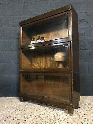Vintage Antique Globe Wernicke Sectional Barristers Bookcase (3 Available)