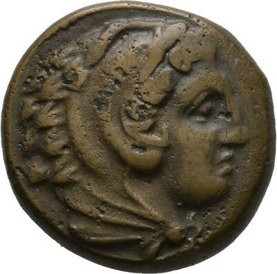 Lanz Kings Macedon Alexander Great Herakles Bow Club Grape Bronze Greek §coc2456