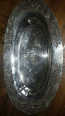 Antique William Rogers  EPNS Serving DISH Tray Christmas Gift Idea