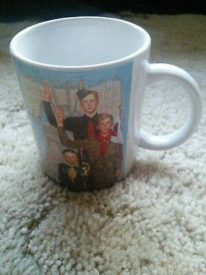 """Coffee Mug Norman Rockwell Boy Scouts Of America """"On My Honor"""""""