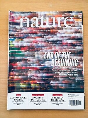 NATURE - Journal of Science Magazine 1 October  2015. Vol 526 Number 7571