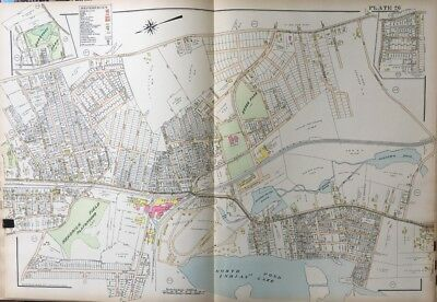 1911 Worcester Worcesters Ma Agricultural Fairgrounds Baseball Stadium Atlas Map