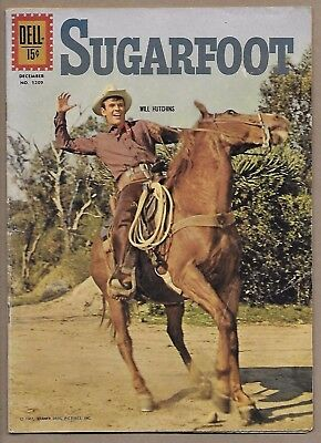 Sugarfoot Four Color #1209~Will Hutchins photo cover~1961 Dell TV Western VG
