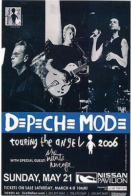 Depeche Mode Touring the Angel promo collectible card '06