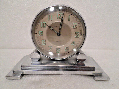 Waltham 8 Day Stepped Case Desk Clock
