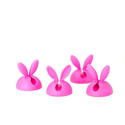 4Pcs Bunny Ear Rabbit Cable Clip Cord Wire Coil Organizer Tie Holder Drop