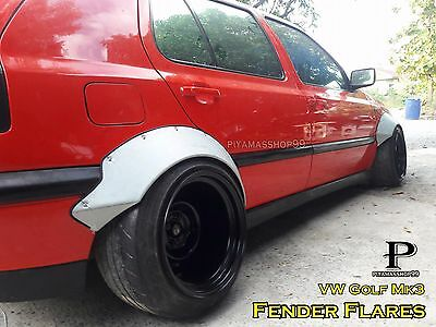 Fender Flares Rocket Bunny Style for VW Golf Mk3 / Materials sheet metal / JDM