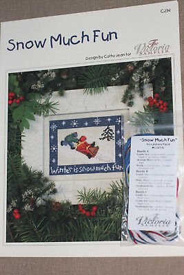 The Victoria Sampler - Snow Much Fun Chart - Leaflet & Acc Pack New