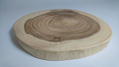 Round Acacia wood slice cut serving slab cheese platter rustic wedding décor