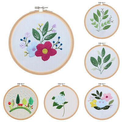 Handicraft Assorted Designs Cross Stitch Hoop Kit Embroidery Sewing Supplies