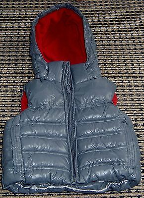 Lily And Dan Boys Hooded Puffer Vest Sz 1 Like New