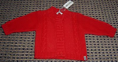 Absorba Baby Boys French Cotton / Wool Blend Cardigan  Sz 6 Months New With Tags