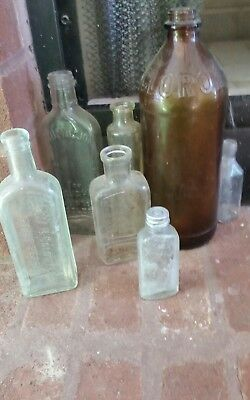 Local Pick Up Only Chattanooga,  TN Lot Vintage Antique Glass Bottles