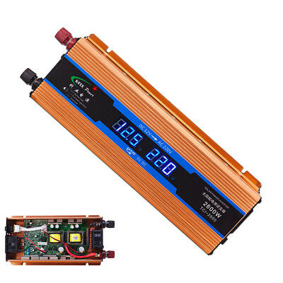 Car Power Inverter 2600W DC12V to AC220V  for Auto phone Low voltage protection