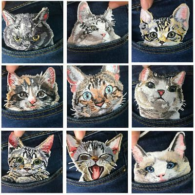 Cute Cat Patch Backpack Decor Appliques Iron on Clothing Badge Stickers on Jeans