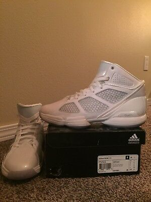 f22951ba17d5 ADIDAS ADIZERO ROSE 1.5 white grey basketball shoe mens size 10 ...