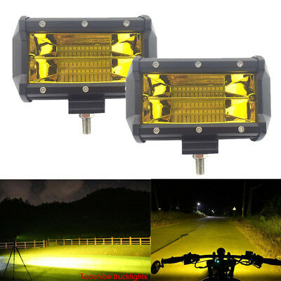 2x72W SPOT LED Off road Work Light Lamp 12V 24V car boat Truck Driving UTE 6000K