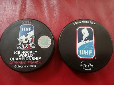 Germany, France  WM 2017, IIHF Official game puck