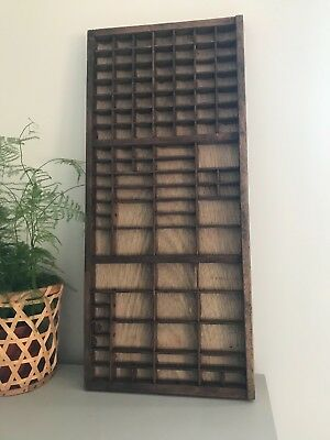 Vintage lwooden etter press printers tray/drawer