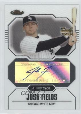 2007 Topps Finest #162 Josh Fields Chicago White Sox Auto Baseball Card
