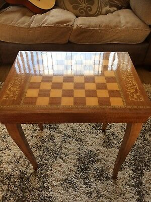 Antique Musical Chess Table