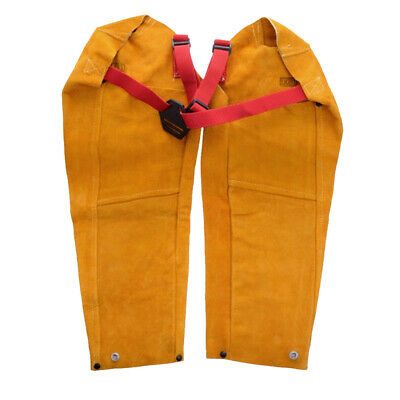 One Pair Cow Leather Welding Sleeves with Button Cuff,Welder's Sleeve