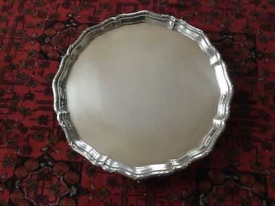 LARGE 14 inch GEORGE V solid silver SALVER, 1930, 1440 grms