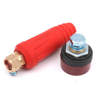Red DKJ 35-50 Quick Fitting Welding Cable Connector Male Plug Female Socket
