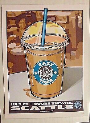 RYAN ADAMS Easy Tiger Poster July 27 2007 Moore Theatre Seattle #121 of 300