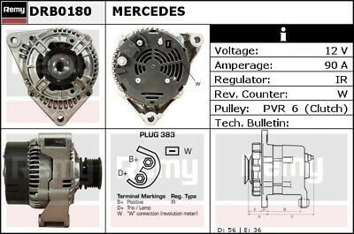 MERCEDES SPRINTER 904 2.9D Alternator 96 to 06 Remy 0091543302 ... on