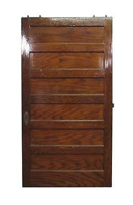 Wooden Pocket Door with 6 Horizontal Panels
