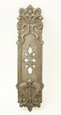 Antique Gothic Bronze Dragon Push Door Plate