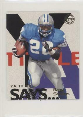 1997 Fleer Goudey YA Tittle Says #17 Barry Sanders Detroit Lions Football Card