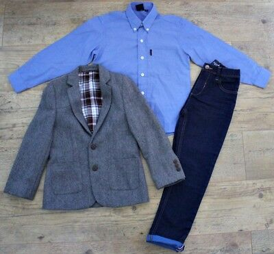 Next Marks & Spencer Boys Bundle Outfit Suit Jacket Blazer Shirt Jeans Age 7-8 Y