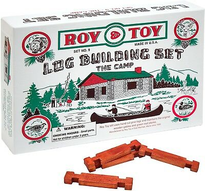 "Miniature Log Cabin ""The Camp"" Set #9 by Roy Toy"