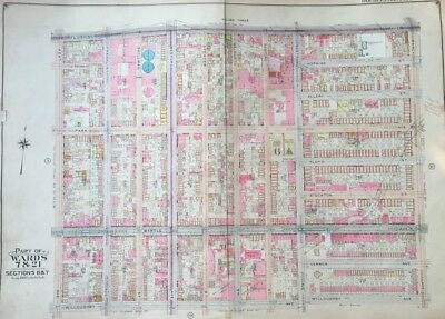 1904 Bed-Stuy Bedford Stuyvesant Brooklyn Ny P.s.54 St. Louis Church Atlas Map