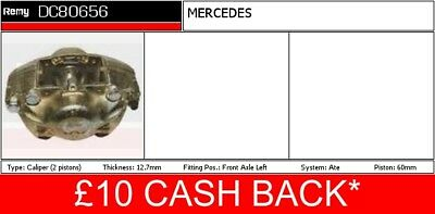 MERCEDES 220 W123 2.2D Brake Caliper Front Left 76 to 79 OM615.941 Remy Quality
