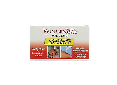 First Aid Only 90358 WoundSeal Blood Clot Powder, Pour Packs, 2/box