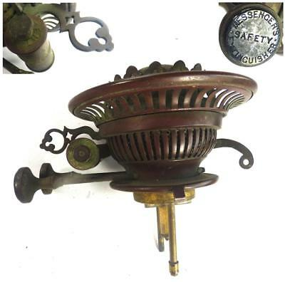 ANTIQUE VICTORIAN BRASS MESSENGERS PATENT BURNER FOR OIL LAMP d