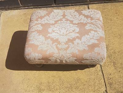 Vintage Upholstered Foot Stool for restoration