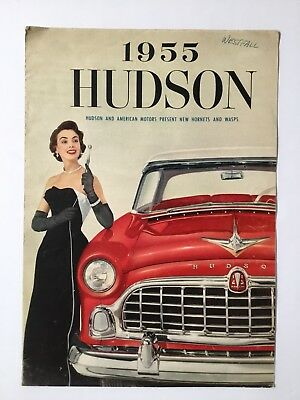 1955 Hudson Hornets and Wasps Poster Brochure