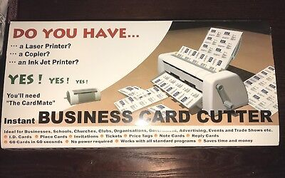 NEW! Cardmate Business Card Cutter--60 cards 60 seconds