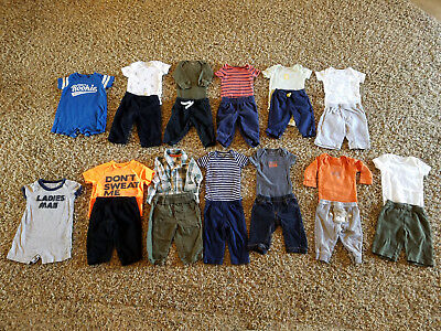 Carters Lot 24 Baby Boy Clothes 3 Months Fall Winter Shirt Pants Outfits
