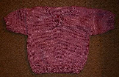 Vintage Hand Knit Dusty Pink Toddler Jumper Exc- Condition