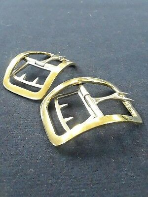 Rectangle Heavy Brass Shoe Buckles 18th century Reproduction *Free Shipping*