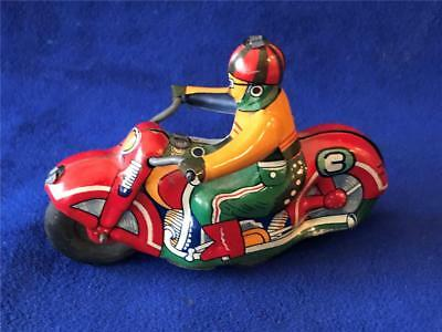 Vintage 1950's Japan ALPS TIN TOY FRICTION MOTORCYCLE - NICE!!