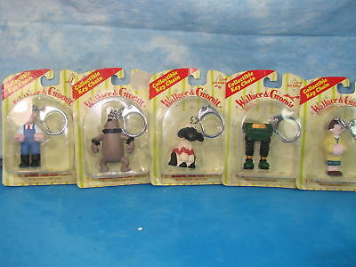Vintage New In Package Wallace Gromit Key Chains Lot Of 5