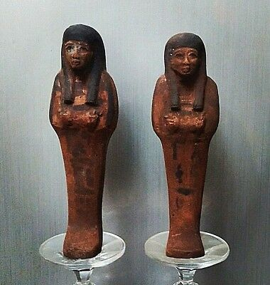 Rare Ancient Egyptian  a pair of  faience ushapti  (600-300 BC))