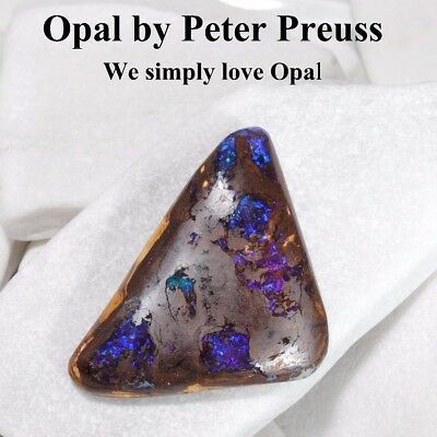 Australischer Boulder Opal GEM / Edelstein Blau flash Queensland 82,75ct.